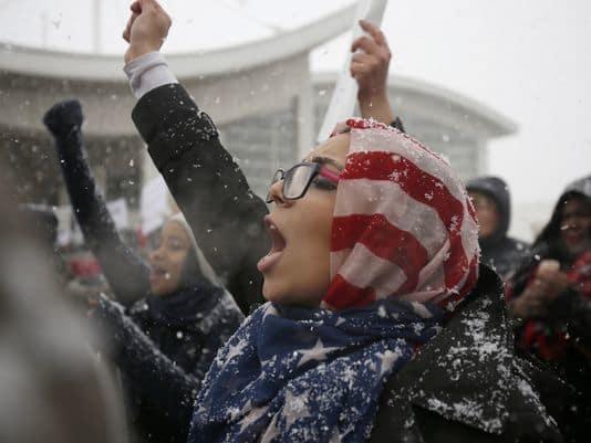 USP NEWS: REFUGEE PROTESTS USA MI